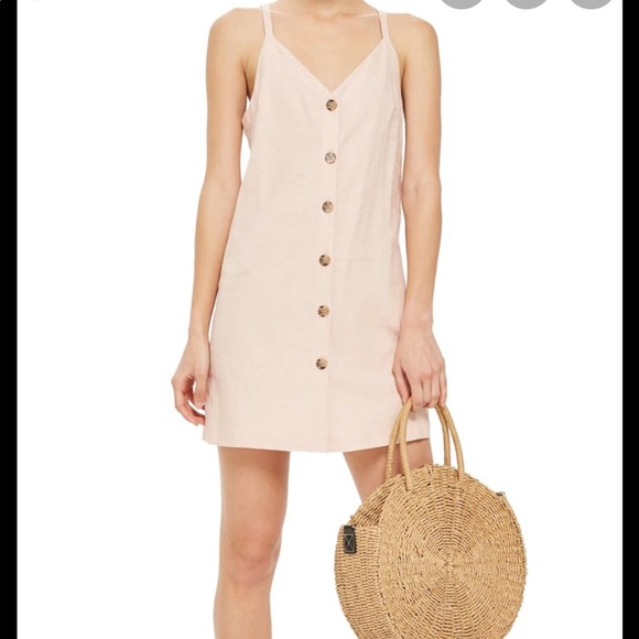 Topshop Dresses & Skirts - TopShop Blush Linen Dress - 12